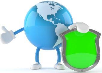 Planetman Holding Green Sign for Social Media