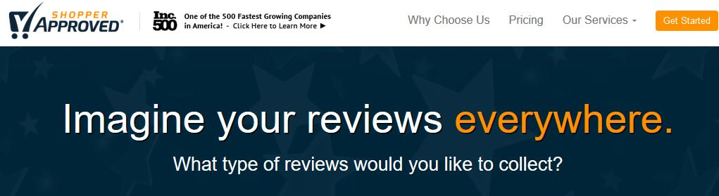 Shopper Approved collects both seller and merchant ratings